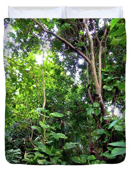 Duvet Cover featuring the photograph Tropical Garden by Francesca Mackenney