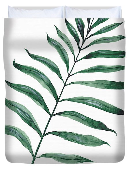 Tropical Greenery - Palm Tree Leaf Duvet Cover