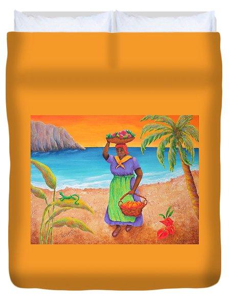 Tropical Harvest Duvet Cover by Pamela Allegretto