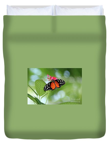 Tropical Hecale Butterfly Duvet Cover