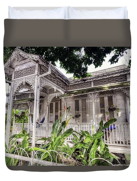 Tropical House Duvet Cover