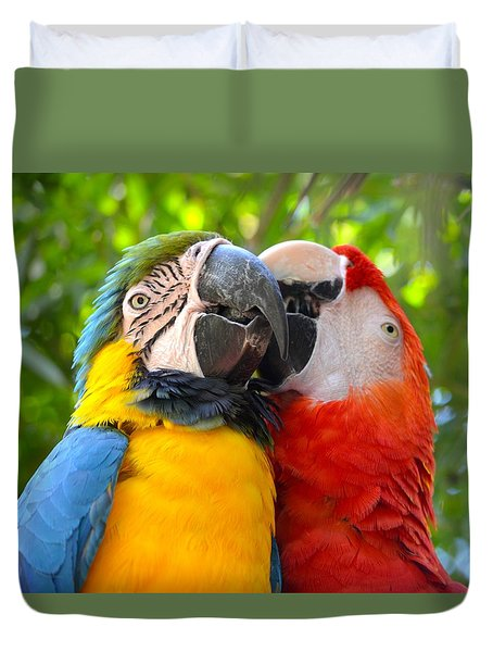 Tropical Kisses Duvet Cover