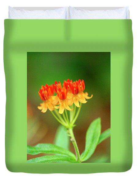 Tropical Milkweed Duvet Cover