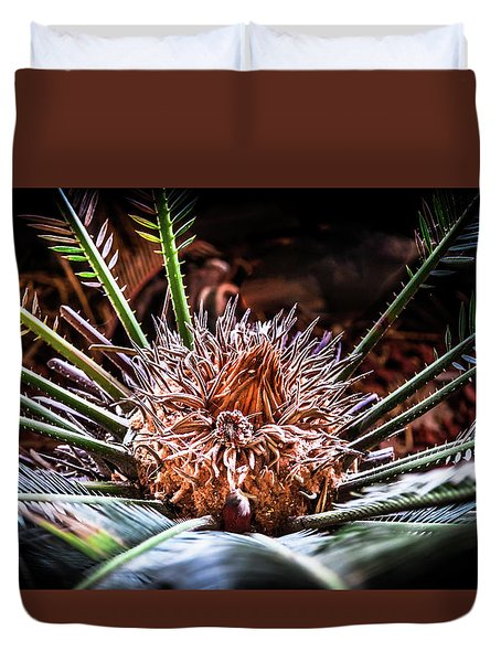 Duvet Cover featuring the photograph Tropical Moments by Karen Wiles