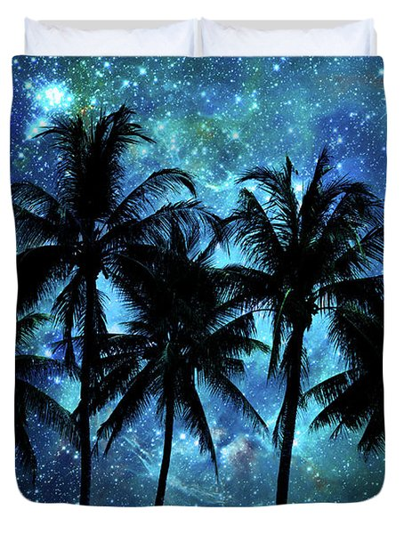 Tropical Night In Indonesia Duvet Cover