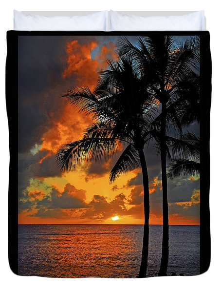 Tropical Nights  Duvet Cover by Lynn Bauer
