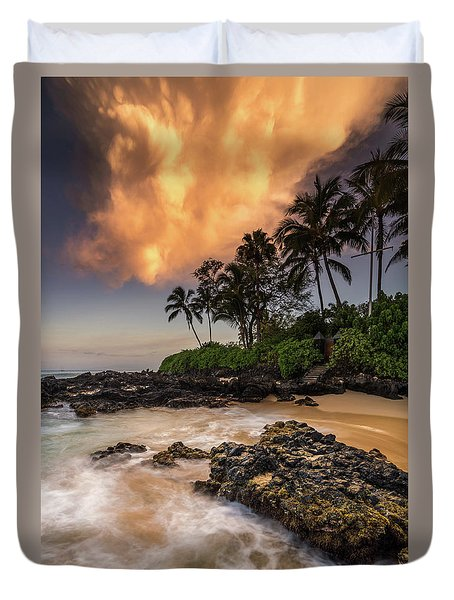 Tropical Nuclear Sunrise Duvet Cover