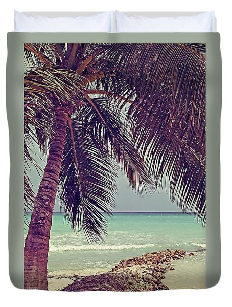 Tropical Ocean View Duvet Cover