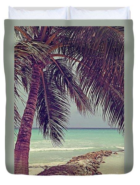 Tropical Ocean View Duvet Cover