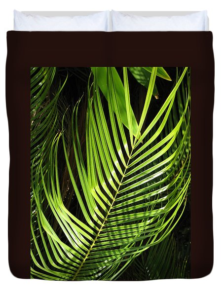 Tropical Palm Duvet Cover by Carol Sweetwood