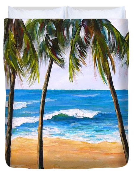 Tropical Palms 2 Duvet Cover