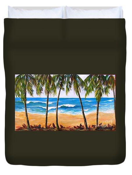 Tropical Palms 2 Duvet Cover