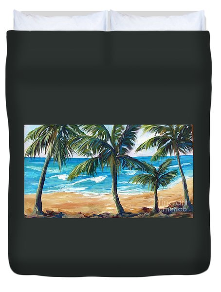 Tropical Palms I Duvet Cover