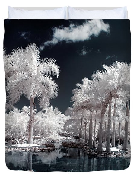 Tropical Paradise Infrared Duvet Cover by Adam Romanowicz