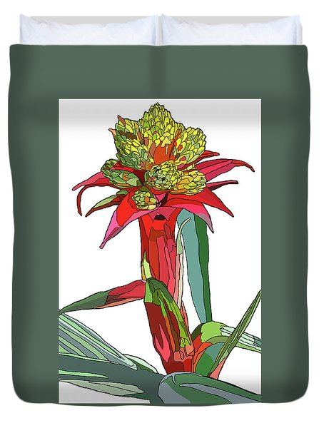 Tropical Reds Duvet Cover by Jamie Downs