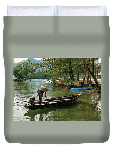 Tropical River  Duvet Cover