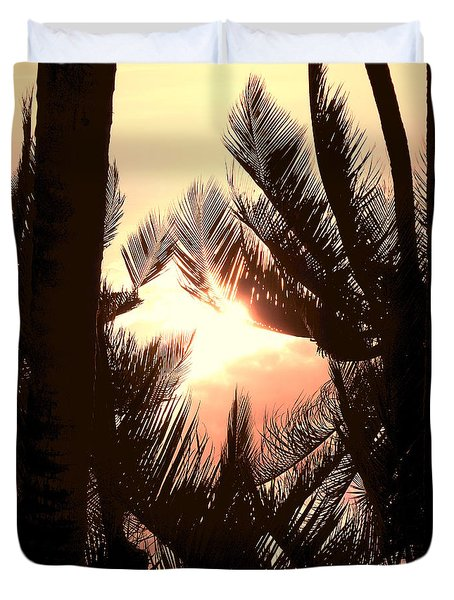 Tropical Romance Duvet Cover
