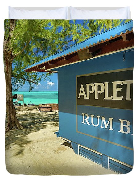 Tropical Rum Bar Duvet Cover