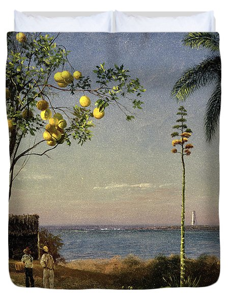 Tropical Scene Duvet Cover