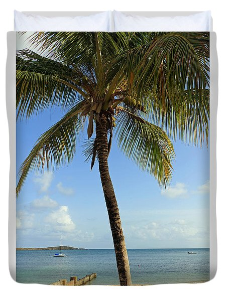 Tropical Serenity Duvet Cover by Mary Haber