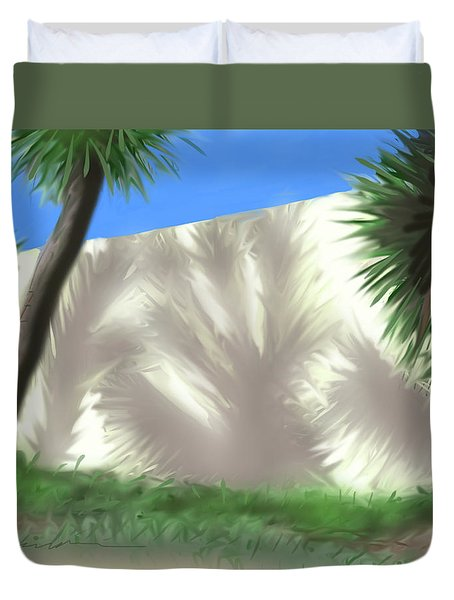 Tropical Shadows Duvet Cover