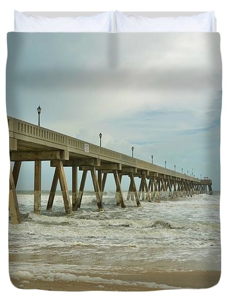 Tropical Storm Ana 1 Duvet Cover by Bob Sample