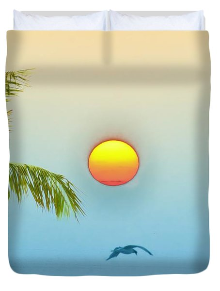 Tropical Sun Duvet Cover by Bill Cannon