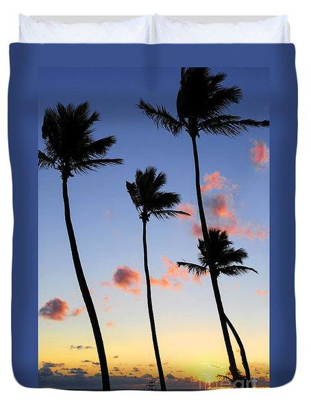 Tropical Sunrise Duvet Cover by Elena Elisseeva