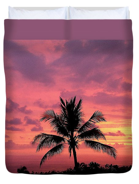 Tropical Sunset Duvet Cover by Karen Nicholson