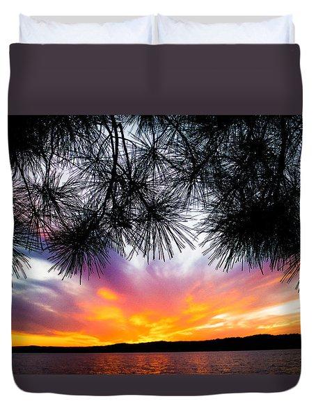 Tropical Sunset  Duvet Cover by Parker Cunningham