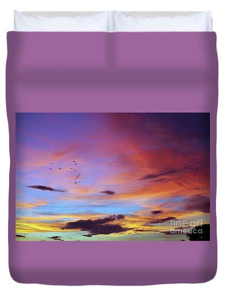 Tropical North Queensland Sunset Splendor  Duvet Cover by Kerryn Madsen-Pietsch