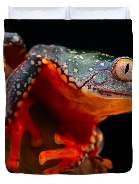 tropical tree frog Cruziohyla craspedotus Duvet Cover by Dirk Ercken