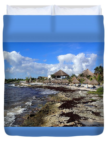 Tropical View Duvet Cover by Lois Lepisto