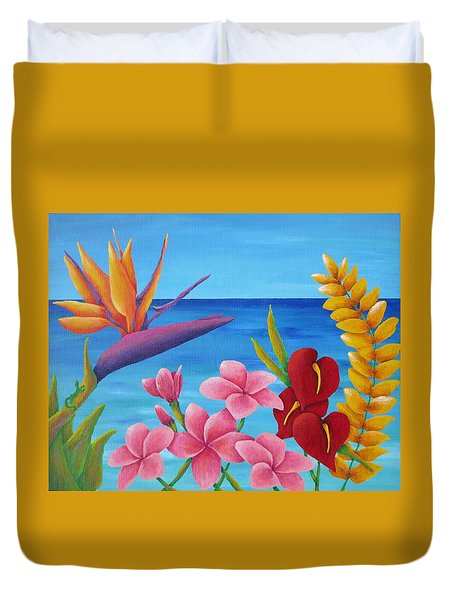 Tropical View Duvet Cover by Pamela Allegretto