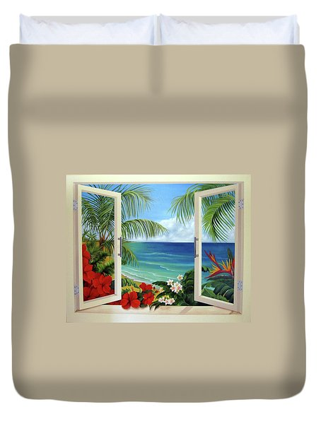 Tropical Window Duvet Cover