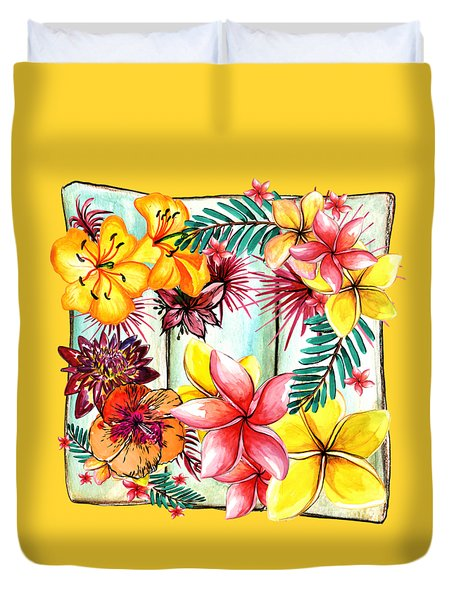 Duvet Cover featuring the photograph Tropicana By Kaye Menner by Kaye Menner