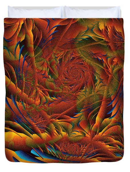 Duvet Cover featuring the digital art Tropicana Fantasy by Richard Ortolano