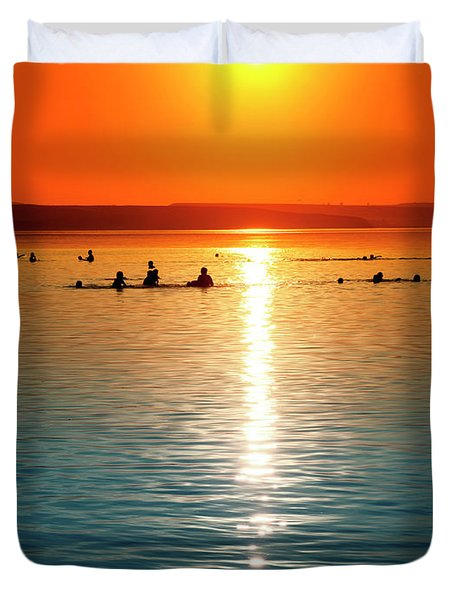 Tropicana Swimming Duvet Cover