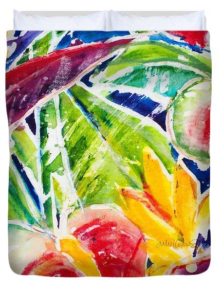 Tropics - Floral Duvet Cover by Julie Kerns Schaper - Printscapes