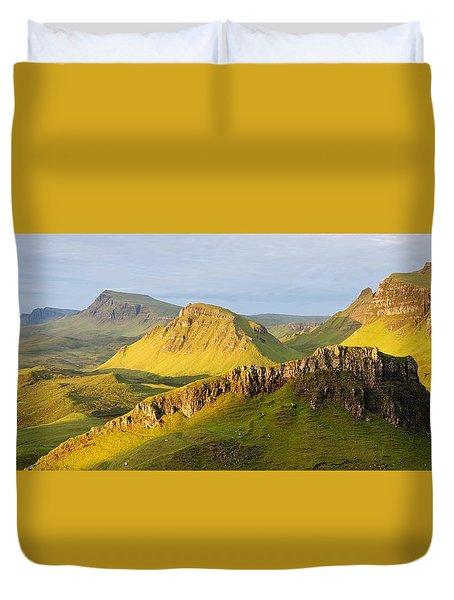 Trotternish Summer Morning Panorama Duvet Cover