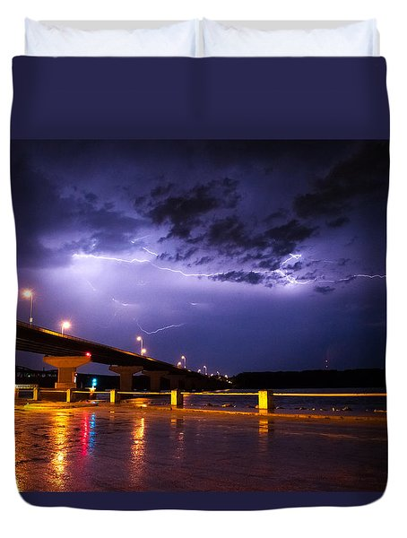 Troubled Skies Duvet Cover