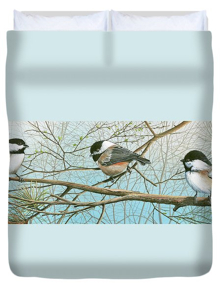 Troublesome Trio Duvet Cover