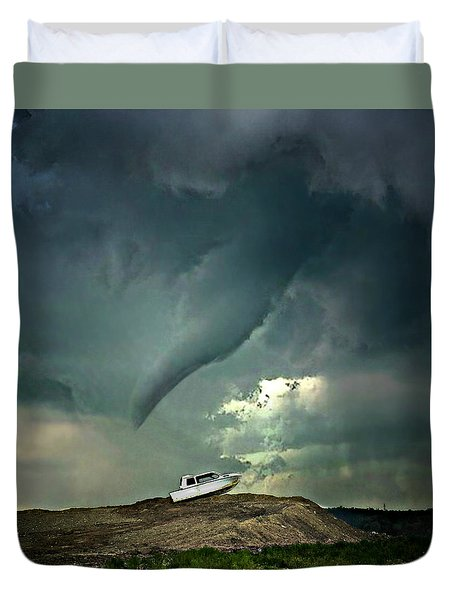 Troubling Times Duvet Cover