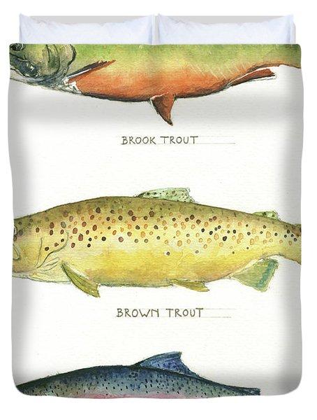 Trout Species Duvet Cover