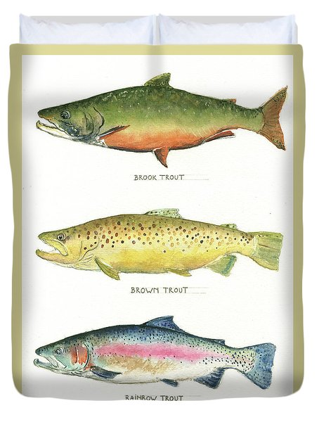 Trout Species Duvet Cover