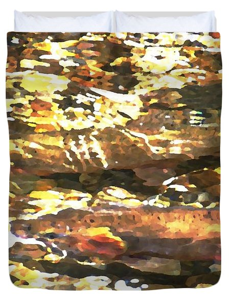 Trout Stream Duvet Cover by Greg Hammond