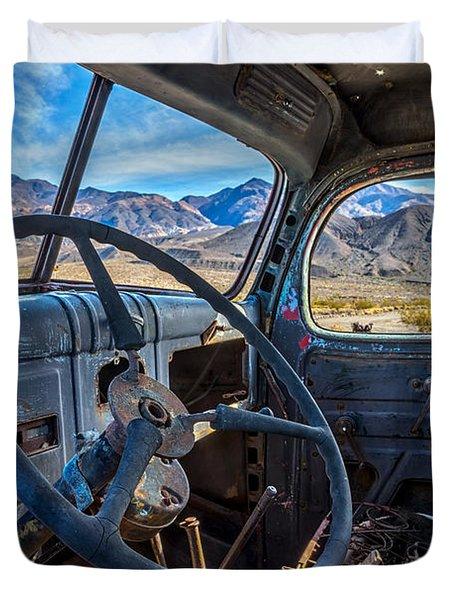 Truck Desert View Duvet Cover
