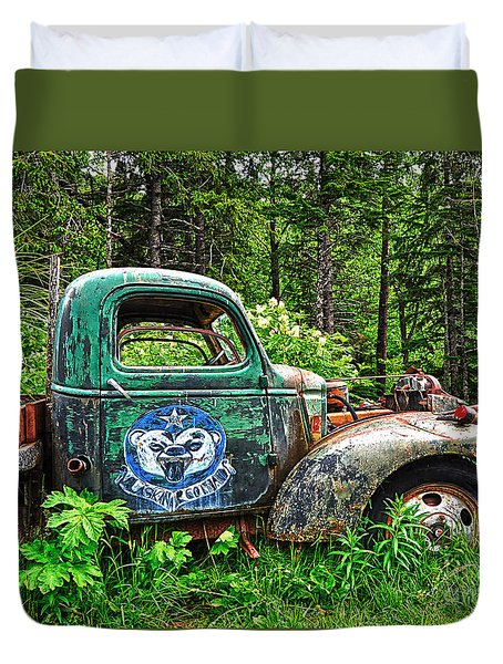 Truck Planter Crow Creek Duvet Cover