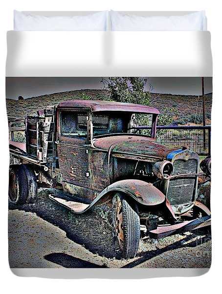 Truckin' Green Acres Style 2 Duvet Cover by Natalie Ortiz
