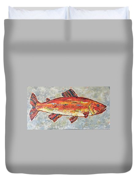 Trudy The Trout Duvet Cover